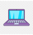 laptop icon cartoon style vector image vector image