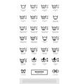 Laundry washing symbols icon set vector image