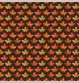 leaf pattern on brown vector image