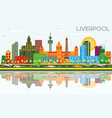 liverpool uk city skyline with color buildings vector image vector image