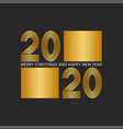 logo 2020 number gold color from many thin vector image