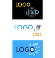 logo for different types of currency and vector image vector image