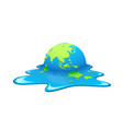 melting earth concept global warming vector image vector image