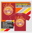 mock up clothing company t-shirt templatecafe vector image vector image