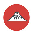 mountain volcano fuji icon isolated on white vector image vector image