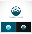 mountain volcano icon logo vector image