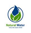 natural water logo design vector image vector image