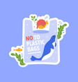 no plastic bag in sea and ocean vector image vector image