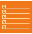 Notebook with to do list vector image vector image