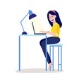 online education girl student vector image