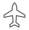 plane line icon aircraft and jet airplane sign vector image