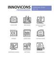 programming - modern line design icons set