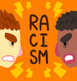 racism social intolerance poster banner template vector image