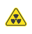 radioactive icon nuclear symbol vector image vector image
