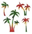 rasta palms vector image