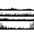 realistic black and white set vector image vector image