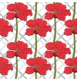 Red Flowers Seamless Pattern 2 vector image vector image