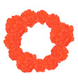 round frame of orange roses vector image
