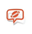 Rugby message sticker orange vector image vector image