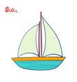 sailing ship or sailboat water transport marine vector image