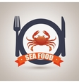 sea food design vector image vector image