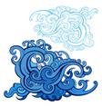 sea waves set vector image vector image