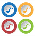 set of four icons - flask vector image vector image