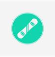 snowboard icon sign symbol vector image vector image