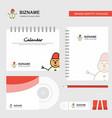 snowman logo calendar template cd cover diary and vector image vector image