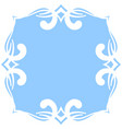 square blue background with white decoration vector image