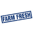 square grunge blue farm fresh stamp vector image vector image