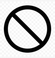 stop sign no entry pass warning black icon vector image