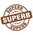 superb brown grunge round vintage rubber stamp vector image