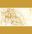 tianjin china city map in retro style in golden vector image vector image
