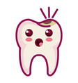 tooth character with caries vector image