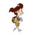 traveller woman walking vector image vector image