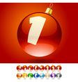 Ultimate set of alphabet font symbols on Christmas vector image vector image
