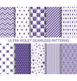 ultra violet color seamless patterns vector image vector image