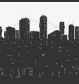 urban city panorama and skyscrapers vector image vector image
