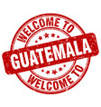 welcome to guatemala vector image vector image