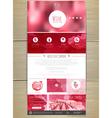 Wine concept web site design vector image vector image
