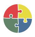 circle puzzle element vector image
