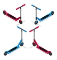 Colorful Push Kick Scooter Set vector image