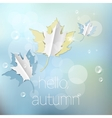 Autumn abstract nature background vector image