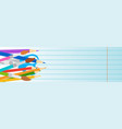 school supplies on edge of horizontal banner with vector image