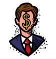 cartoon image of businessman icon leadership vector image
