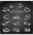 hand drawn with meat products vector image