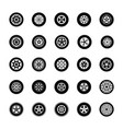 a pack of tyres icons vector image