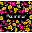 Abstract poster with tag Summer Floral background vector image vector image