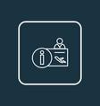 airport reception icon line symbol premium vector image